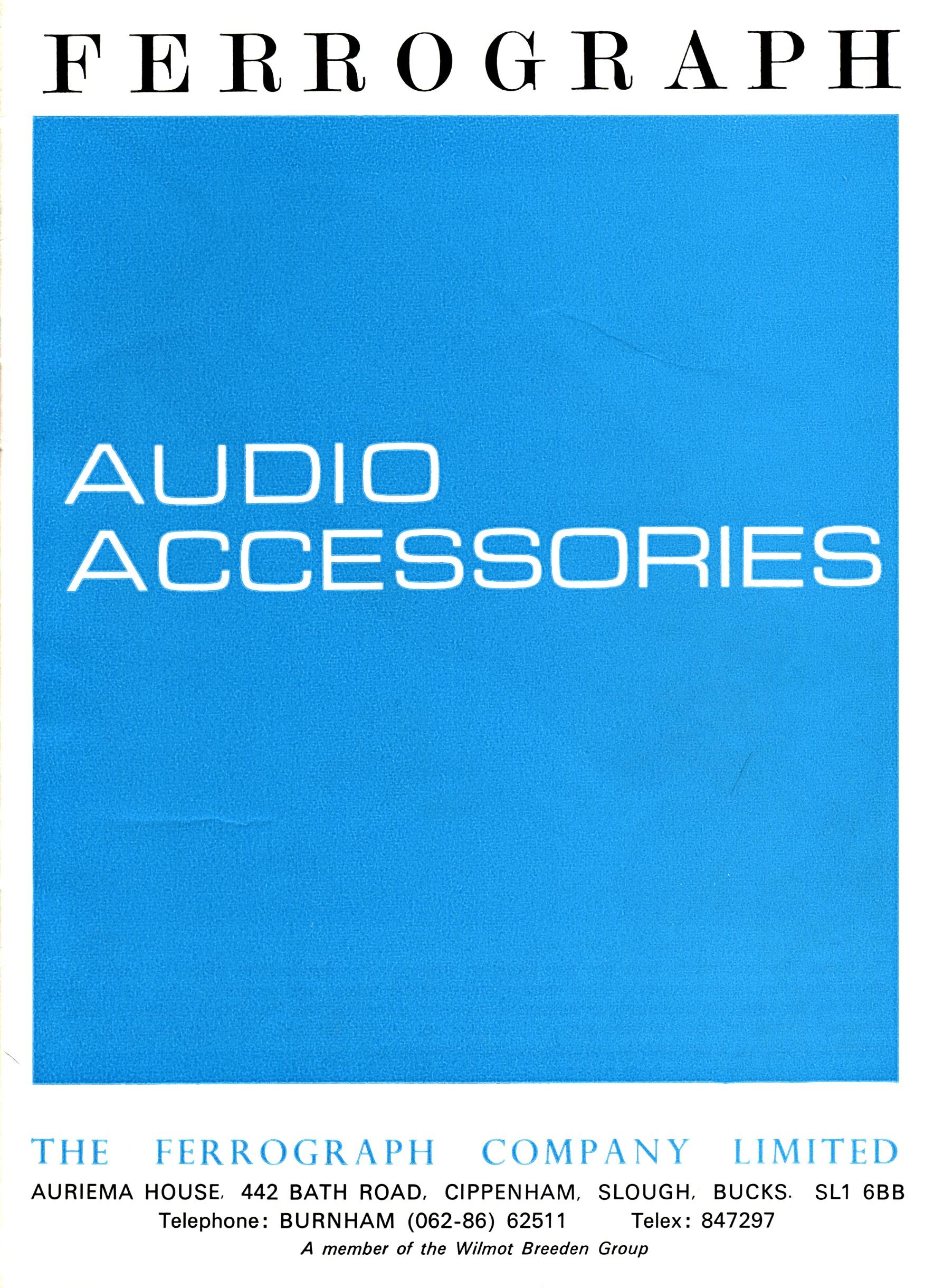 UK Hi-Fi History Society - Ferrograph Tape Recorders