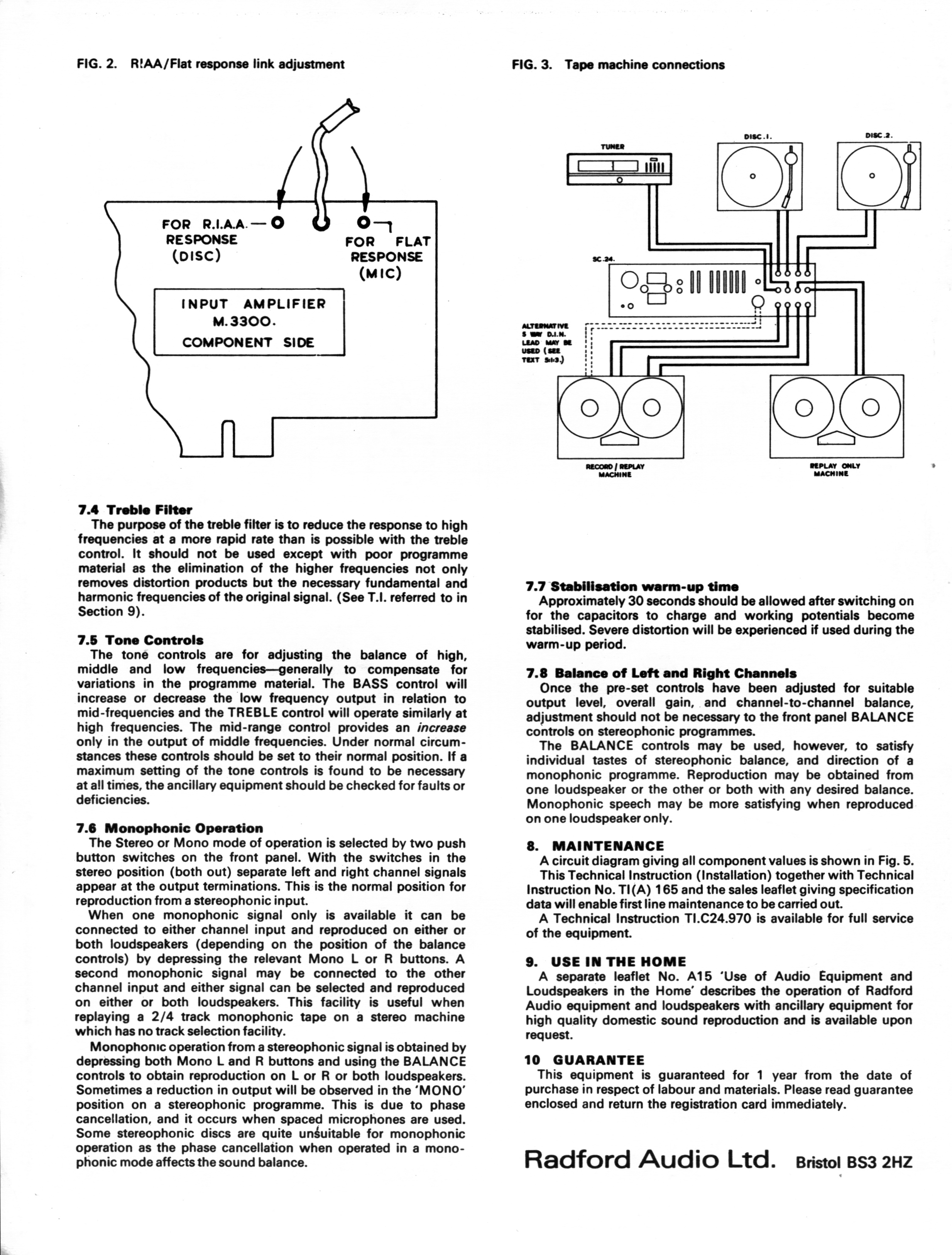 Uk Hi Fi History Society Radford Sc24 Pa50 Spa50 The Modified Treble Booster Circuit Diagram Is Purposed To Be Used As Page4 Jpeg 1m